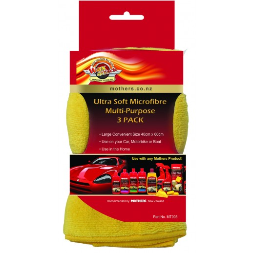 Gold Microfiber Cloth - 3 Pack
